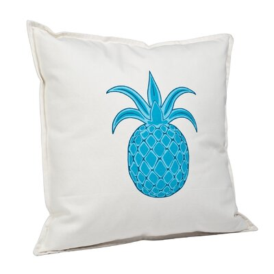 Pineapple Cotton Canvas Throw Pillow Color: Turquoise