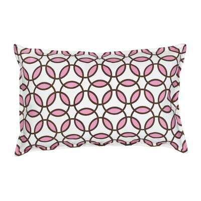 Rings Cotton Canvas Lumbar Pillow Color: Blush