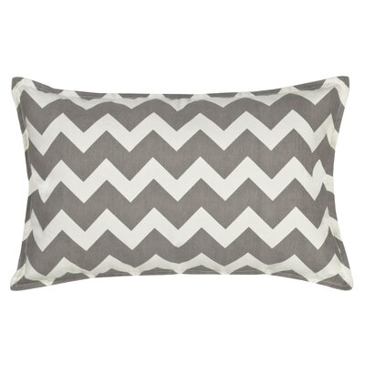 Chevron Cotton Canvas Lumbar Pillow Color: Gray