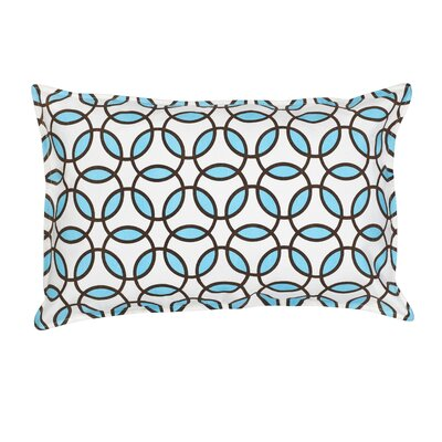 Rings Cotton Canvas Lumbar Pillow Color: Light Blue