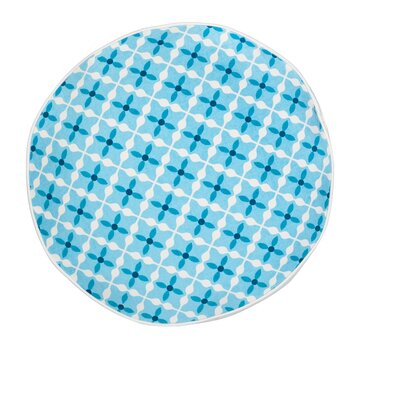 Quatrefoil Cotton Canvas Throw Pillow Color: Turquoise