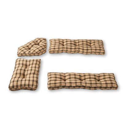 Applegate 4 Piece Bench Cushion Set Fabric: Olive Green