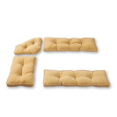 Hyatt 4 Piece Bench Cushion Set Fabric: Cream