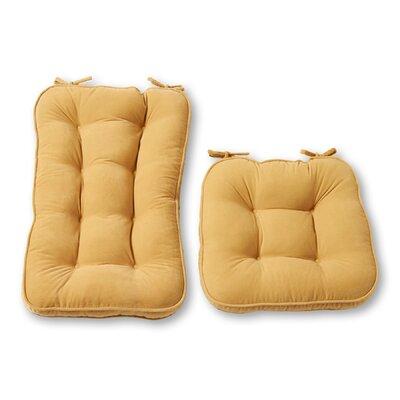 Rocking Chair Cushion Back Cushion Size: 22 W x 17 D, Color: Cream