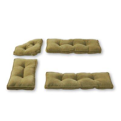 Hyatt 4 Piece Bench Cushion Set Fabric: Moss