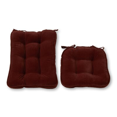 Rocking Chair Cushion Back Cushion Size: 28 W x 18 D, Color: Burgundy