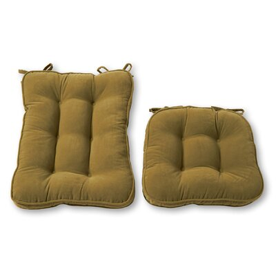 Rocking Chair Cushion Back Cushion Size: 28 W x 18 D, Color: Moss