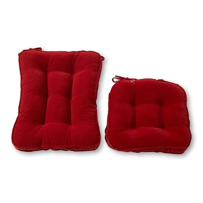 Rocking Chair Cushion Back Cushion Size: 28 W x 18 D, Color: Scarlet