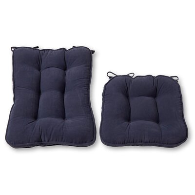 Rocking Chair Cushion Back Cushion Size: 22 W x 17 D, Color: Denim