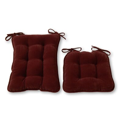 Rocking Chair Cushion Size: Standard, Color: Wine