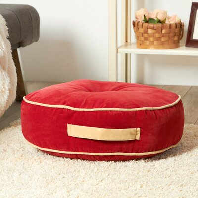 Hyatt Fabric Floor Pillow Color: Scarlet