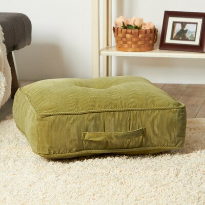 Merritt Floor Pillow Size: 5 H x 21 W x 21 D, Color: Olive