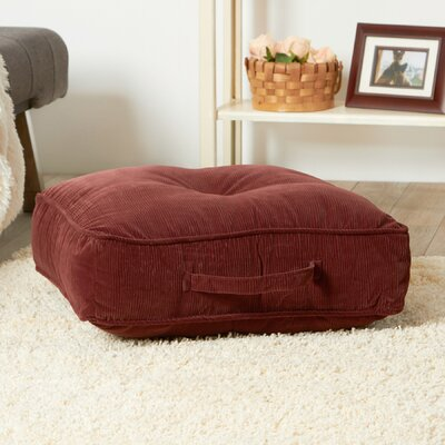 Merritt Floor Pillow Size: 5 H x 21 W x 21 D, Color: Wine