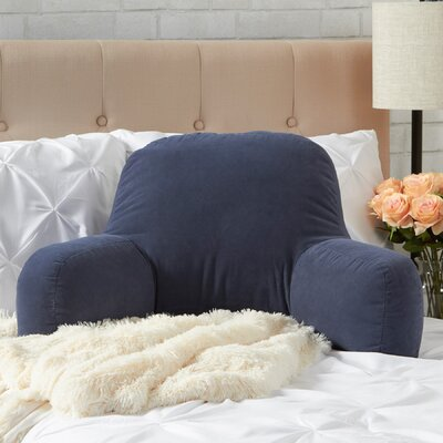 Hyatt Bed Rest Pillow Color: Denim