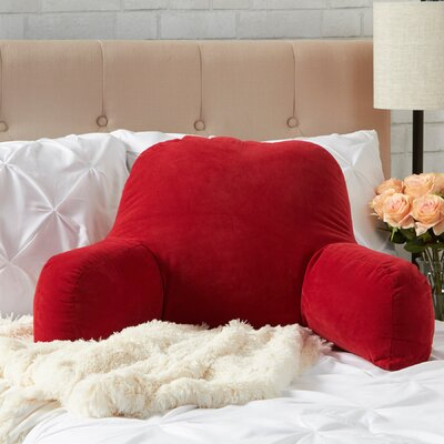 BriarCreek Bed Rest Pillow Color: Scarlett