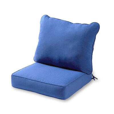 Outdoor Lounge Chair Cushion Color: Marine