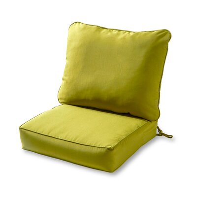 Outdoor Lounge Chair Cushion Color: Kiwi