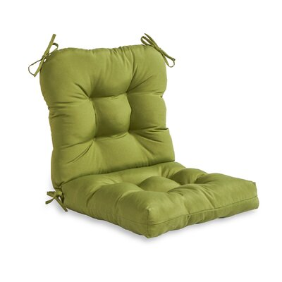 Outdoor Lounge Chair Cushion Fabric: Summerside Green