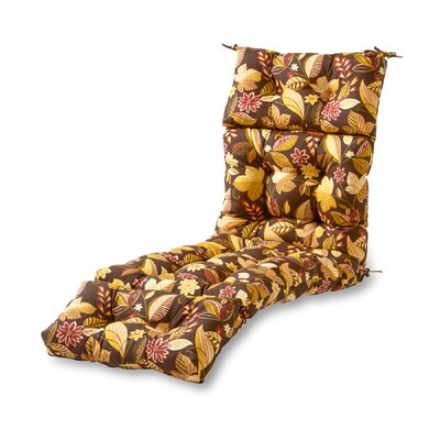 Outdoor Chaise Lounge Cushion Fabric: Timber Floral