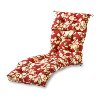 Outdoor Chaise Lounge Cushion Fabric: Roma Floral