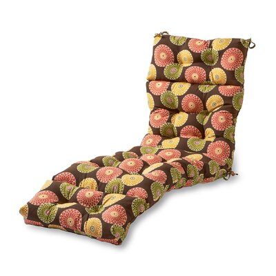 Outdoor Chaise Lounge Cushion Fabric: Flower Chocolate