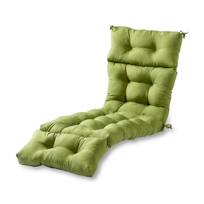 Outdoor Chaise Lounge Cushion Fabric: Summerside Green
