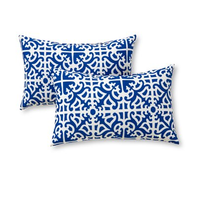Outdoor Lumbar Pillow Color: Indigo