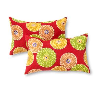 Outdoor Lumbar Pillow Color: Red