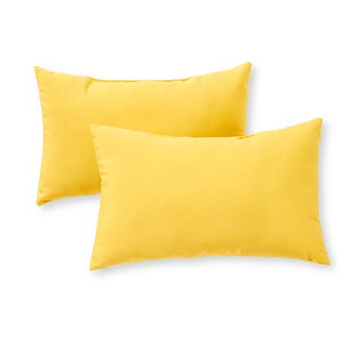 Outdoor Lumbar Pillow Color: Sunbeam
