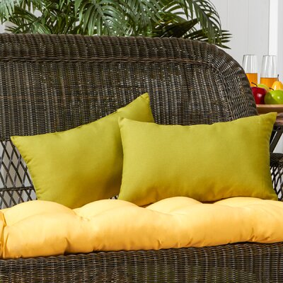 Sarver Outdoor Lumbar Pillow Color: Kiwi