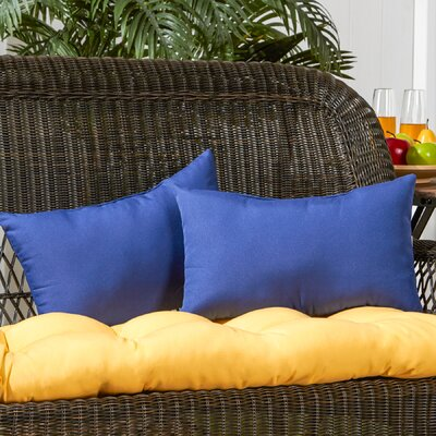 Sarver Outdoor Lumbar Pillow Color: Marine Blue