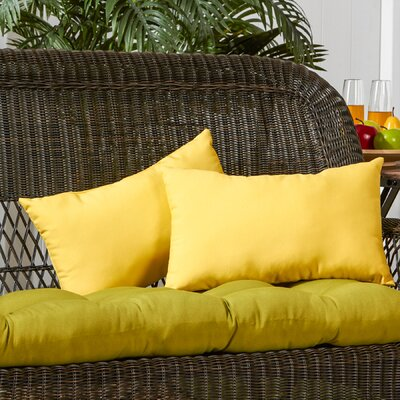 Sarver Outdoor Lumbar Pillow Color: Sunbeam