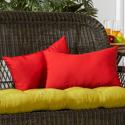 Sarver Outdoor Lumbar Pillow Color: Salsa