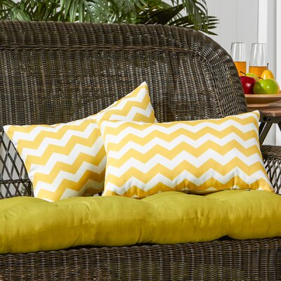 Sandler Cotton Canvas Lumbar Pillow Color: Yellow