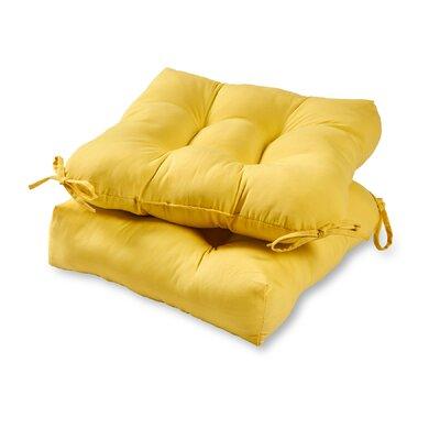 Outdoor Dining Chair Cushion Fabric: Sunbeam Yellow