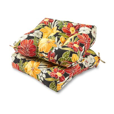 Aloha Outdoor Dining Chair Cushion Fabric: Black