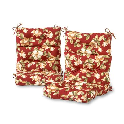 Roma Floral High Back Outdoor Lounge Chair Cushion