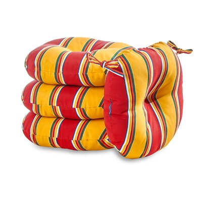 Carnival Stripe Outdoor Dining Chair Cushion
