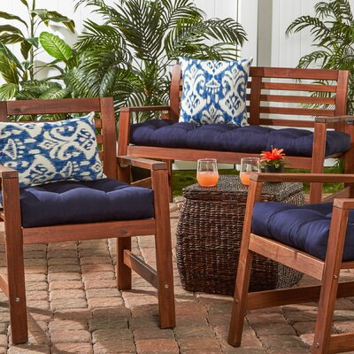 51 Outdoor Bench Cushion Color: Navy
