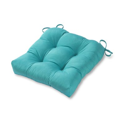 20 Outdoor Chair Cushion Color: Teal