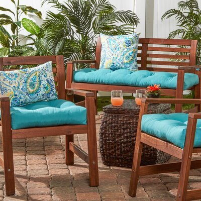 51 Outdoor Bench Cushion Color: Teal