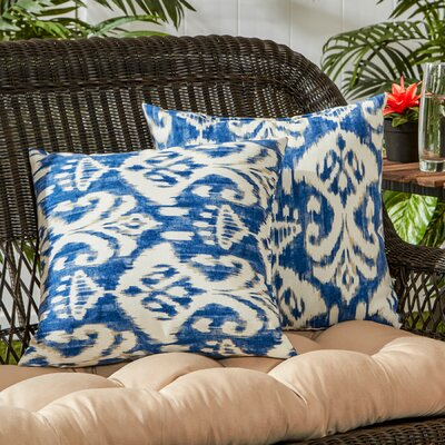 Outdoor Throw Pillow Color: Azule