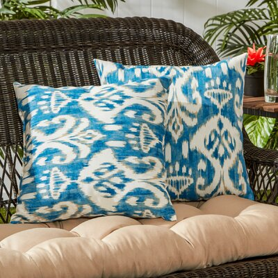 Outdoor Throw Pillow Color: Sea Side