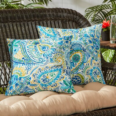 Outdoor Throw Pillow Color: Baltic