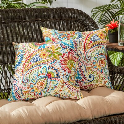Outdoor Throw Pillow Color: Jamboree