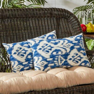 Outdoor Lumbar Pillow Color: Azule