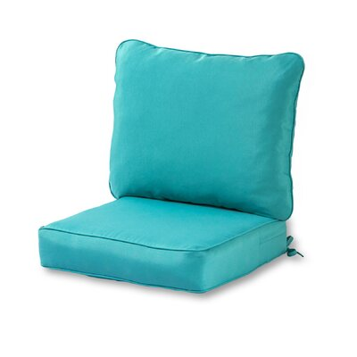 Outdoor Lounge Chair Cushion Color: Teal