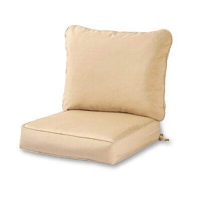 Outdoor Lounge Chair Cushion Color: Stone