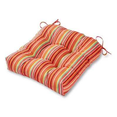 Outdoor Dining Chair Cushion Fabric: Watermelon