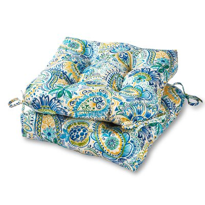 Outdoor Dining Chair Cushion Fabric: Baltic